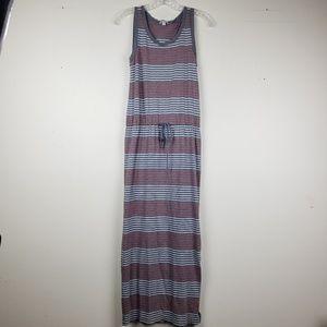 GAP   Red/Gray Stripe Tank Maxi Dress in XS
